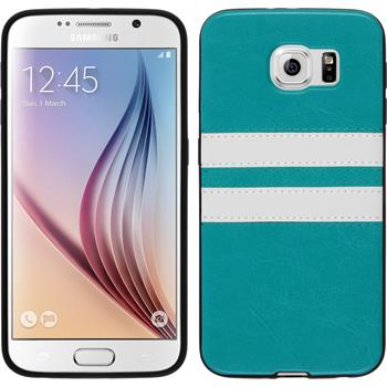 Silicone Case for Samsung Galaxy S6 Stripes turquoise