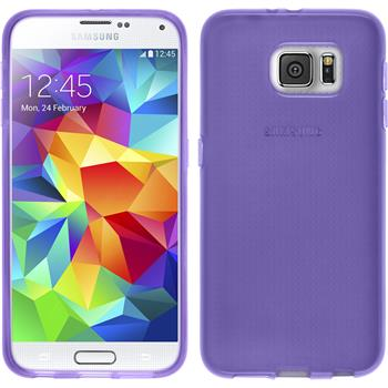Silicone Case for Samsung Galaxy S6 transparent purple