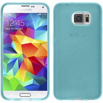 Silicone Case for Samsung Galaxy S6 transparent turquoise