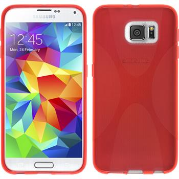 Silicone Case for Samsung Galaxy S6 X-Style red