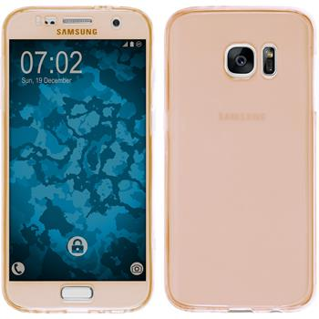 Silicone Case for Samsung Galaxy S7 360° Fullbody gold
