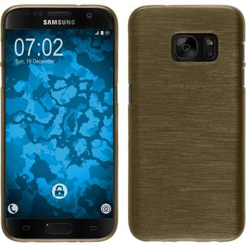 Silicone Case for Samsung Galaxy S7 brushed gold