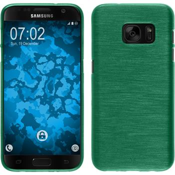Silicone Case for Samsung Galaxy S7 brushed green
