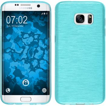Silicone Case for Samsung Galaxy S7 Edge brushed blue