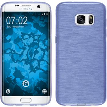 Silicone Case for Samsung Galaxy S7 Edge brushed dark blue