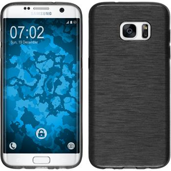 Silicone Case for Samsung Galaxy S7 Edge brushed silver