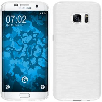 Silicone Case for Samsung Galaxy S7 Edge brushed white