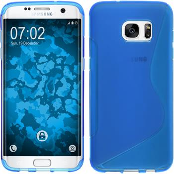 Silicone Case for Samsung Galaxy S7 Edge S-Style blue