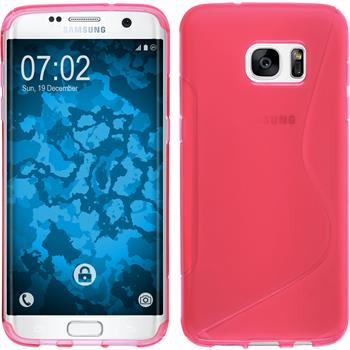 Silicone Case for Samsung Galaxy S7 Edge S-Style hot pink