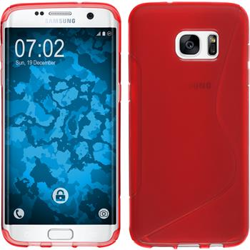 Silicone Case for Samsung Galaxy S7 Edge S-Style red