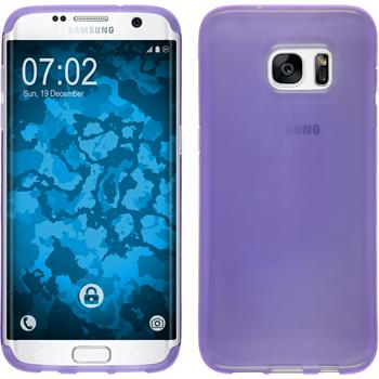Silicone Case for Samsung Galaxy S7 Edge transparent purple