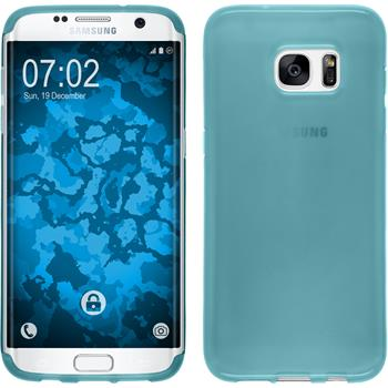 Silicone Case for Samsung Galaxy S7 Edge transparent turquoise