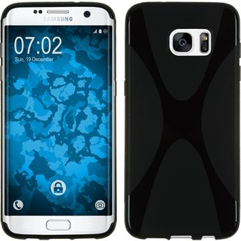 Silicone Case for Samsung Galaxy S7 Edge X-Style black