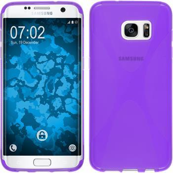 Silicone Case for Samsung Galaxy S7 Edge X-Style purple