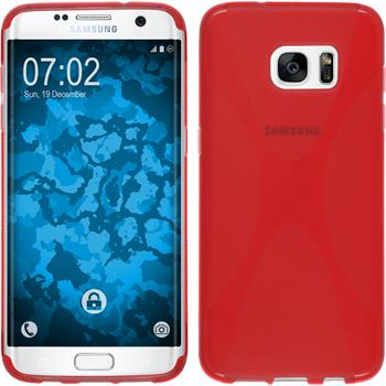 Silicone Case for Samsung Galaxy S7 Edge X-Style red