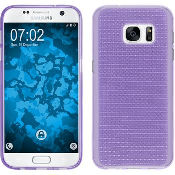 Silicone Case for Samsung Galaxy S7 Iced purple