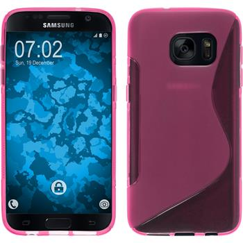 Silicone Case for Samsung Galaxy S7 S-Style hot pink