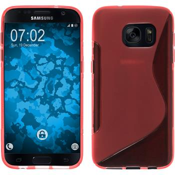 Silicone Case for Samsung Galaxy S7 S-Style red