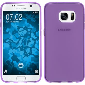 Silicone Case for Samsung Galaxy S7 transparent purple