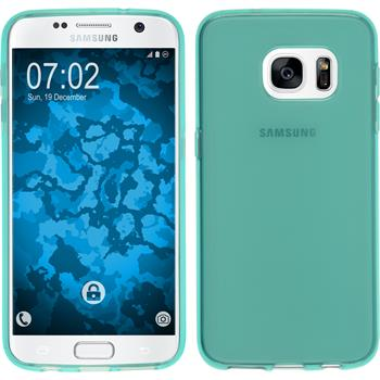 Silicone Case for Samsung Galaxy S7 transparent turquoise
