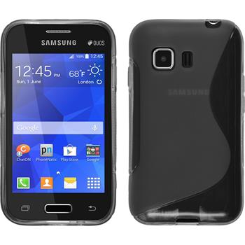 Silicone Case for Samsung Galaxy Young 2 S-Style gray