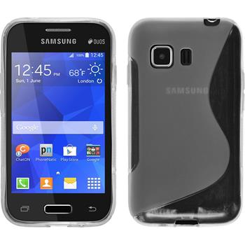 Silicone Case for Samsung Galaxy Young 2 S-Style transparent