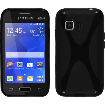 Silicone Case for Samsung Galaxy Young 2 X-Style black