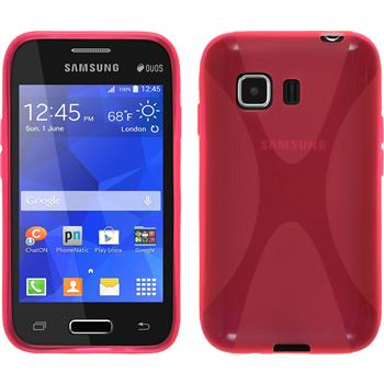 Silicone Case for Samsung Galaxy Young 2 X-Style hot pink