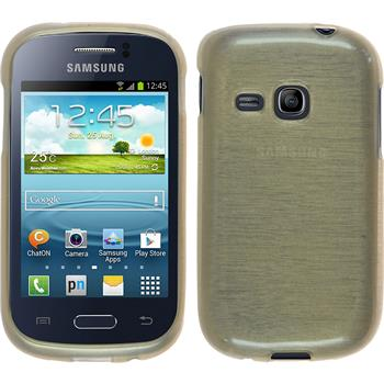 Silicone Case for Samsung Galaxy Young brushed gold