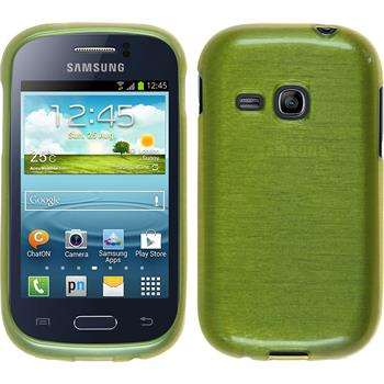 Silicone Case for Samsung Galaxy Young brushed pastel green