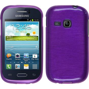 Silicone Case for Samsung Galaxy Young brushed purple