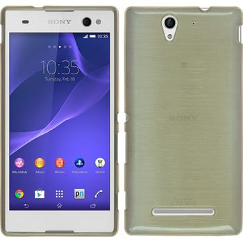 Silicone Case for Sony Xperia C3 brushed gold