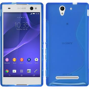 Silicone Case for Sony Xperia C3 S-Style blue