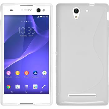 Silicone Case for Sony Xperia C3 S-Style white