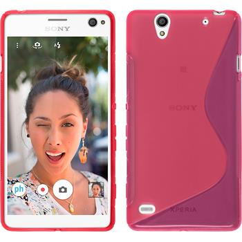 Silicone Case for Sony Xperia C4 / Dual S-Style hot pink