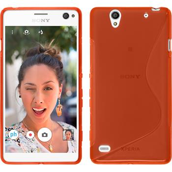 Silicone Case for Sony Xperia C4 / Dual S-Style red