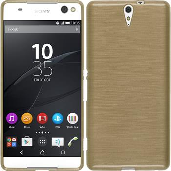 Silicone Case for Sony Xperia C5 Ultra brushed gold
