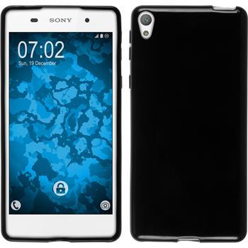 Silicone Case for Sony Xperia E5 crystal-case black