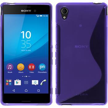 Silicone Case for Sony Xperia M4 Aqua S-Style purple