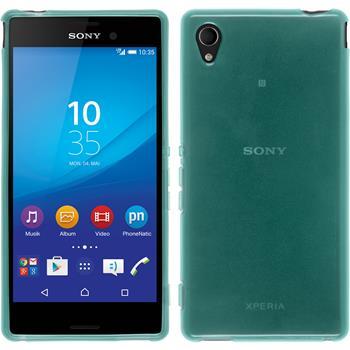 Silicone Case for Sony Xperia M4 Aqua transparent turquoise