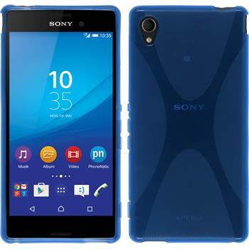 Silicone Case for Sony Xperia M4 Aqua X-Style blue