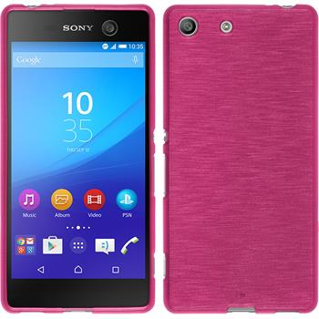 Silicone Case for Sony Xperia M5 brushed hot pink