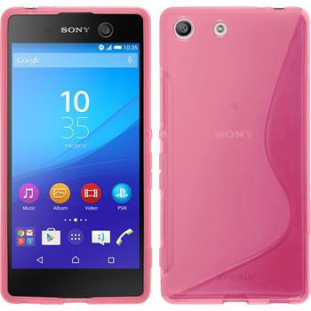 Silicone Case for Sony Xperia M5 S-Style hot pink