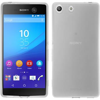 Silicone Case for Sony Xperia M5 transparent white