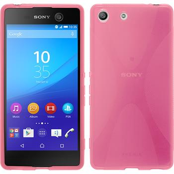 Silicone Case for Sony Xperia M5 X-Style hot pink