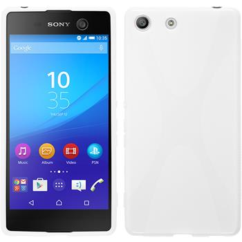 Silicone Case for Sony Xperia M5 X-Style white