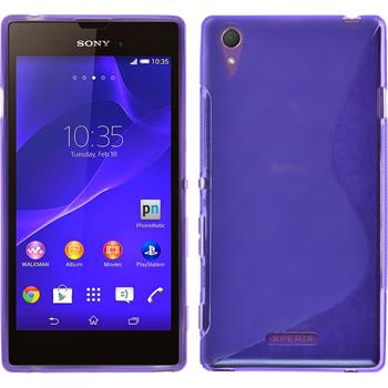 Silicone Case for Sony Xperia Style S-Style purple
