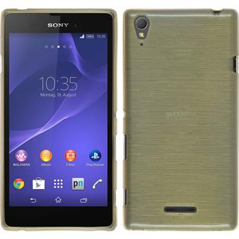 Silicone Case for Sony Xperia T3 brushed gold