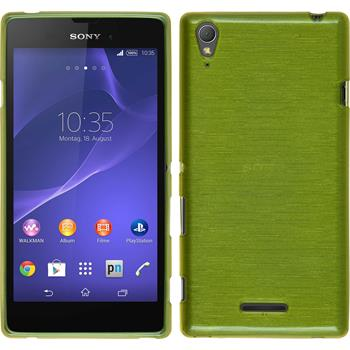 Silicone Case for Sony Xperia T3 brushed pastel green