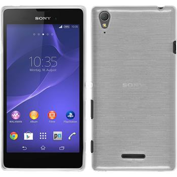 Silicone Case for Sony Xperia T3 brushed white
